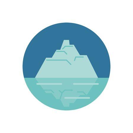 iceberg floating in the water vector illustration design Векторная Иллюстрация