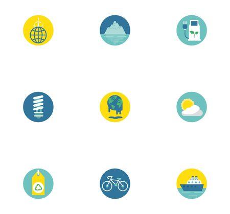 bundle of environment set icons vector illustration design