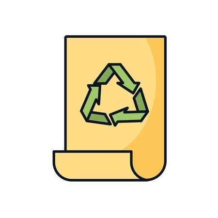arrows recycle symbol in truck vector illustration design