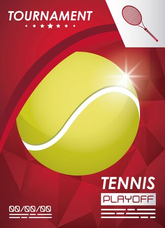 tennis sport poster with ball vector illustration design