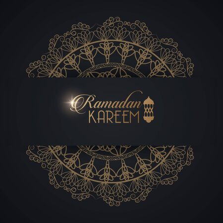 eid mubarak card with mandala frame vector illustration design
