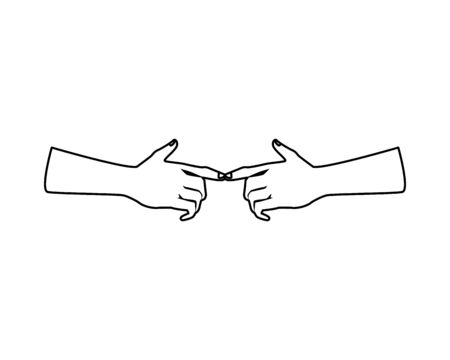 hands humans index isolated icon vector illustration design Stock Illustratie