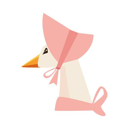 cute mom duck easter character vector illustration design