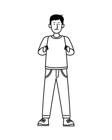activist man protesting avatar character vector illustration design Ilustração