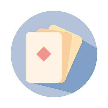 poker diamond cards block style icon vector illustration design Illustration