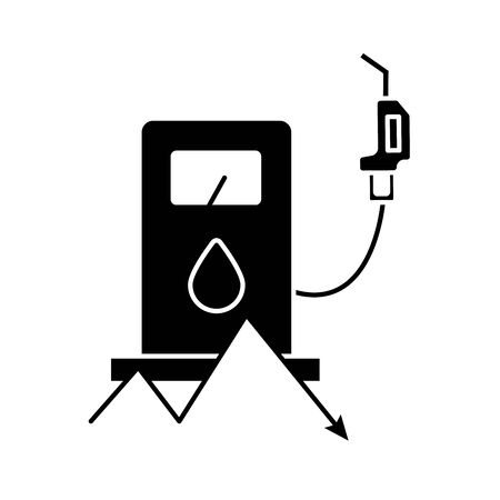 station service pump flat style vector illustration design Illusztráció