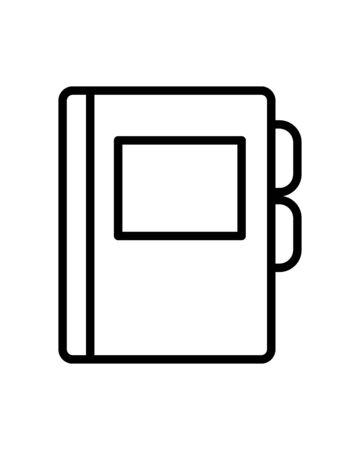 agend diary line style icon vector illustration design Illusztráció