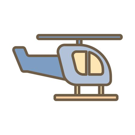 helicopter flying child toy block style icon vector illustration design Foto de archivo - 142864675