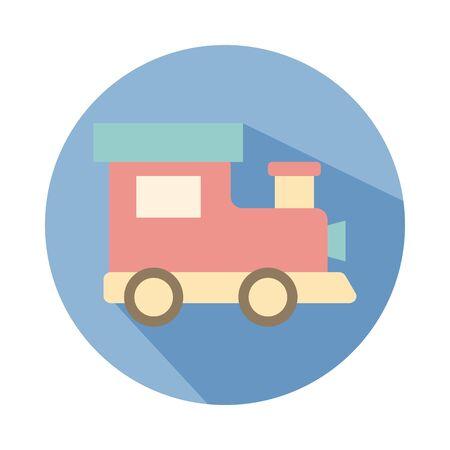 cute train child toy block style icon vector illustration design Foto de archivo - 142865155