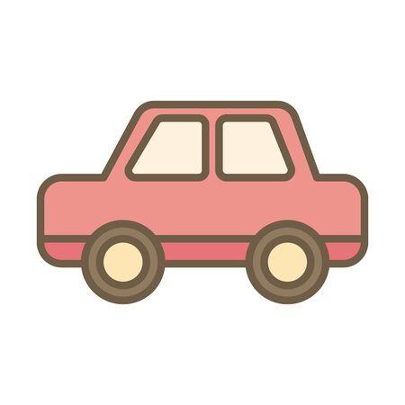 car child toy block style icon vector illustration design Foto de archivo - 142866887