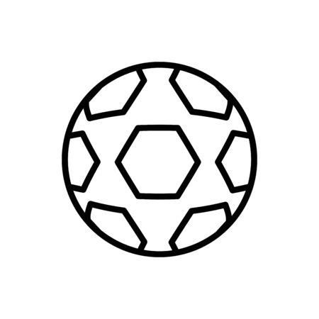 ball soccer line style icon vector illustration design Foto de archivo - 142866940