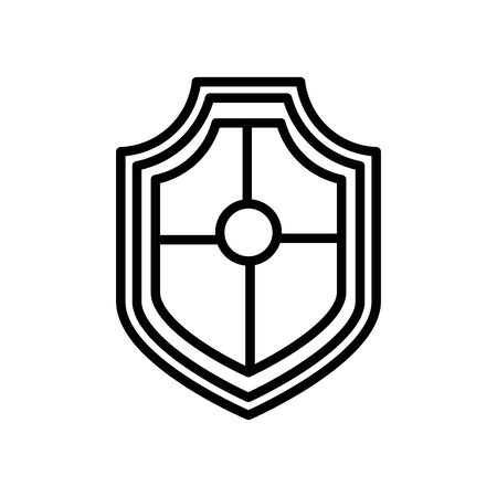 shield security line style icon vector illustration design