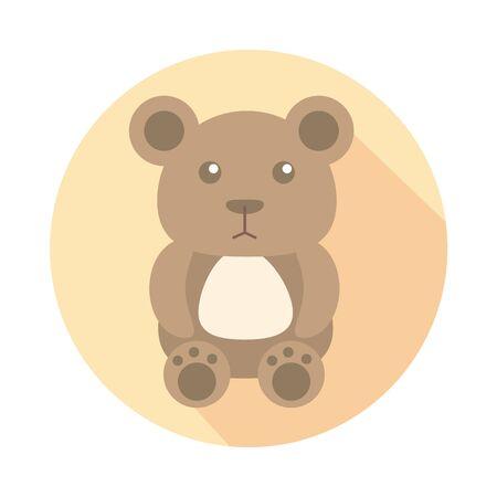 bear teddy child toy block style icon vector illustration design Foto de archivo - 142866953