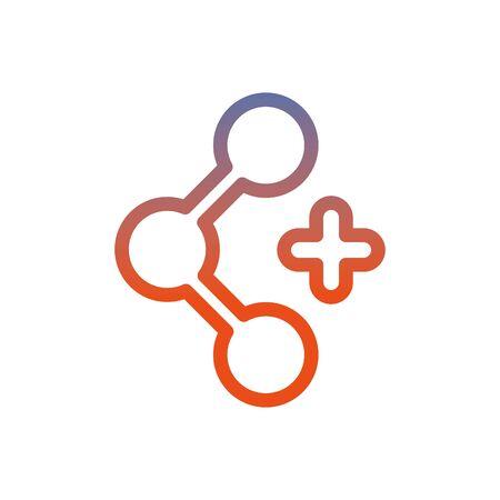 share symbol social media icon vector illustration design