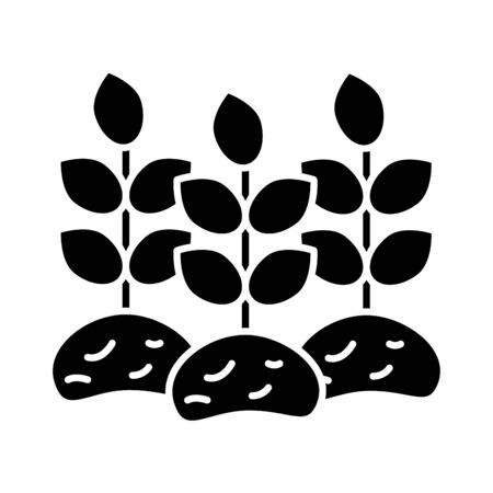 house plant cultivating isolated flat style icon vector illustration design