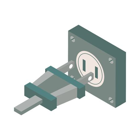 energy connector plug isolated icon vector illustration design Illustration