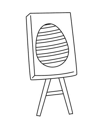egg painted in paperboard easter decoration vector illustration design