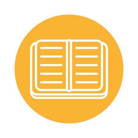 text book block style icon vector illustration design Ilustracja