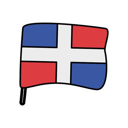 dominican republic flag country isolated icon vector illustration design