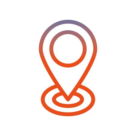 pin pointer location isolated icon vector illustration design Illustration