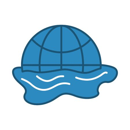 world planet earth melting icon vector illustration design