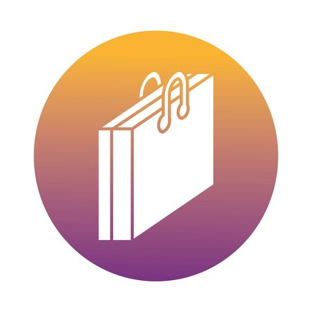 portfolio briefcase documents block style icon vector illustration design
