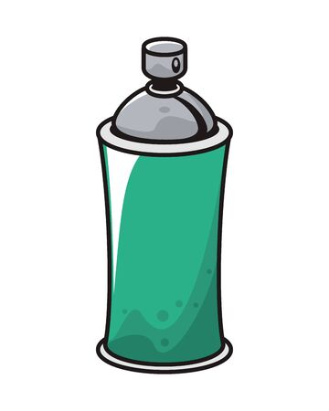spray paint bottle isolated icon vector illustration design Illustration