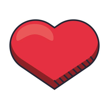 heart love valentines day isolated icon vector illustration design Ilustración de vector
