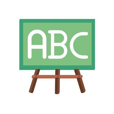 chalkboard with alphabet flat style vector illustration design Ilustrace