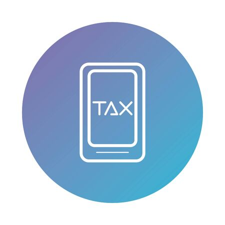 smartphone with tax obligation degraded style vector illustration design Vettoriali
