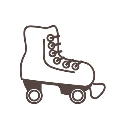 skate roller child toy line style icon vector illustration design