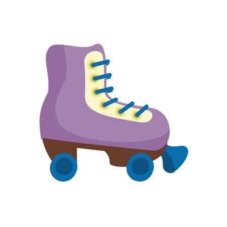 skate roller child toy flat style icon vector illustration design 일러스트