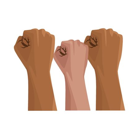interracial hands human isolated icon vector illustration design