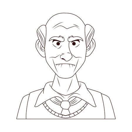 old grandfather character isolated icon vector illustration design Stock Illustratie