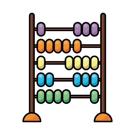 abacus child toy flat style icon vector illustration design