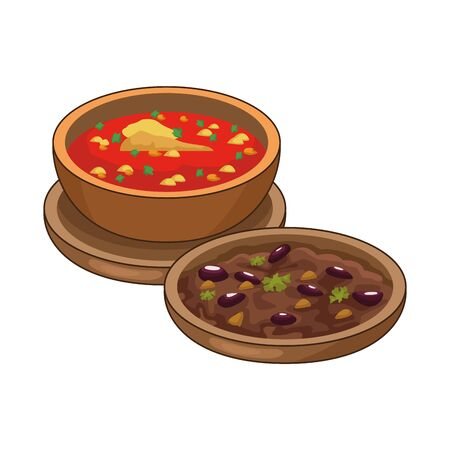 refried beans and often delicious mexican food vector illustration design Ilustrace