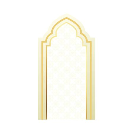 ramadan karem golden arch door icon vector illustration design