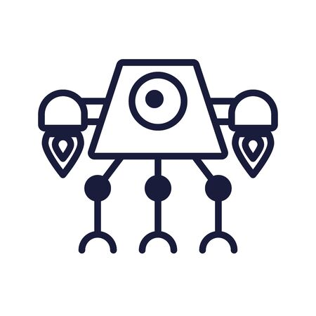 robot cyborg tech isolated icon vector illustration design