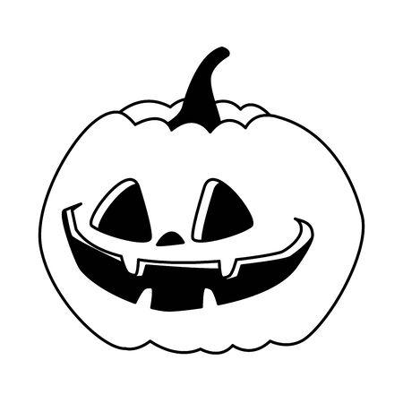halloween pumpkin decorative isolated icon vector illustration design