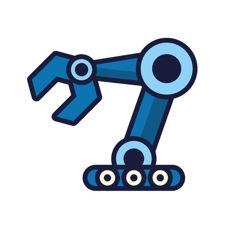 robot hand cyborg isolated icon vector illustration design Ilustrace