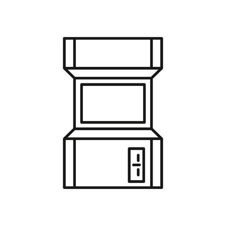 video game retro machine icon vector illustration design 向量圖像