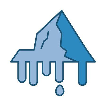 iceberg floating in the water vector illustration design