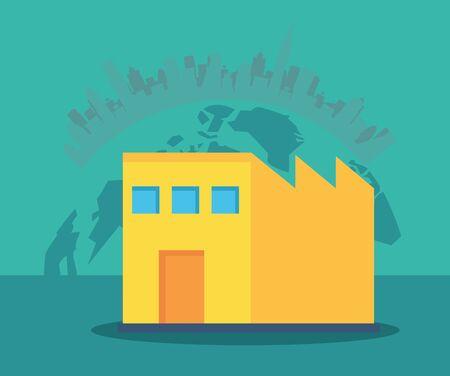 building office postal service icon vector illustration design