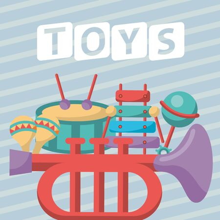 set toys baby isolated icons vector illustration design Foto de archivo - 142864748