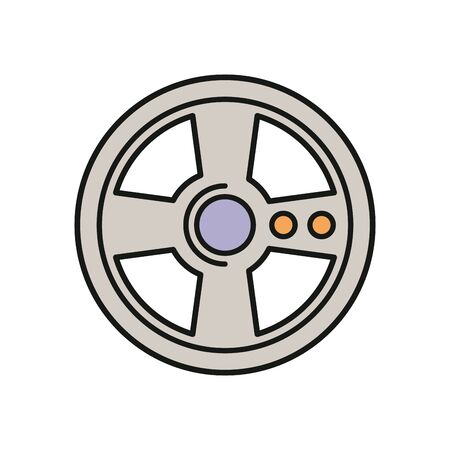 video game car wheel control vector illustration design