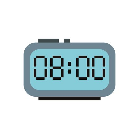 digital alarm clock isolated icon vector illustration design