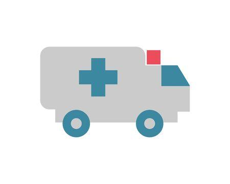 ambulance car vehicle isolated icon vector illustration design Ilustracja