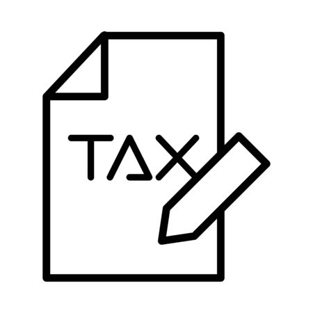 tax obligation document with pencil vector illustration design