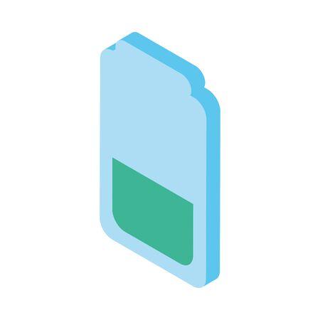 sim card phone isolated icon vector illustration design