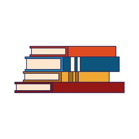 stack of academic books icon over white background, vector illustration